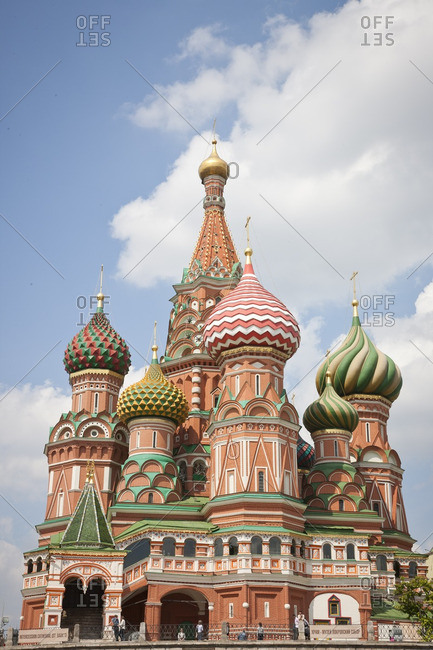 Moscow, Russia - May 18, 2008: St. Basil's Cathedral exterior