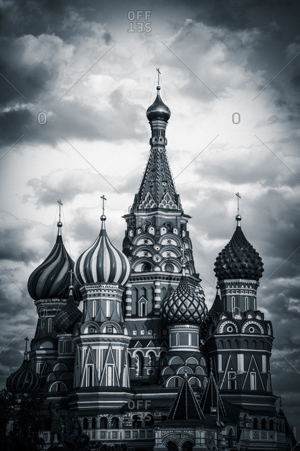 Dramatic view of St. Basil's Cathedral