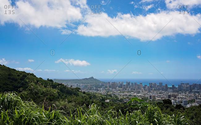 Cityscape of Honolulu, Hawaii