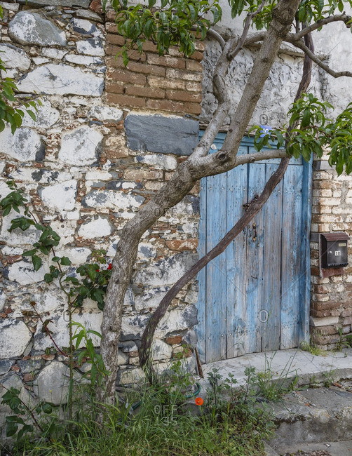 Agros, Cyprus - May 8, 2015: Old house in the village of Agros, Cyprus