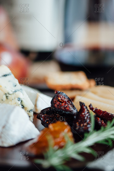 Fresh Figs on a Cheese Board