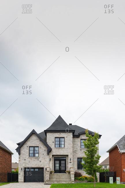 Stylish brick home in a modern upscale suburb