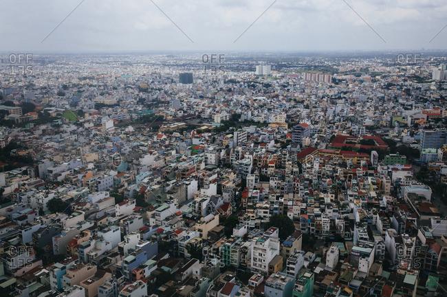 Ho Chi Minh City, Vietnam - September 20, 2016: View over Ho Chi Minh City, Vietnam