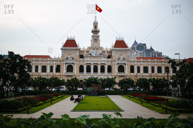 Ho Chi Minh City, Vietnam - September 20, 2016: The Saigon People's Committee building