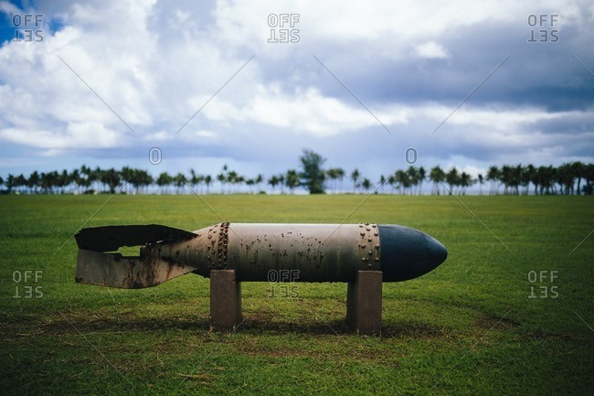 A bomb at World War II memorial, Guam