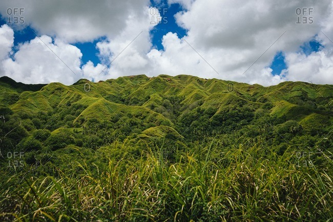 A mountain range in the interior of Guam