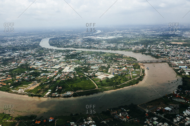 The Saigon River in southern Vietnam