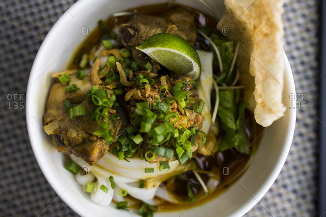 Mi Quang noodles in Danang, Vietnam