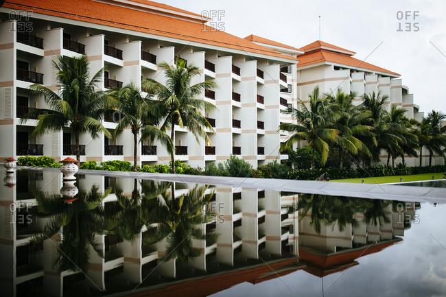 Resort in reflection in Danang, Vietnam