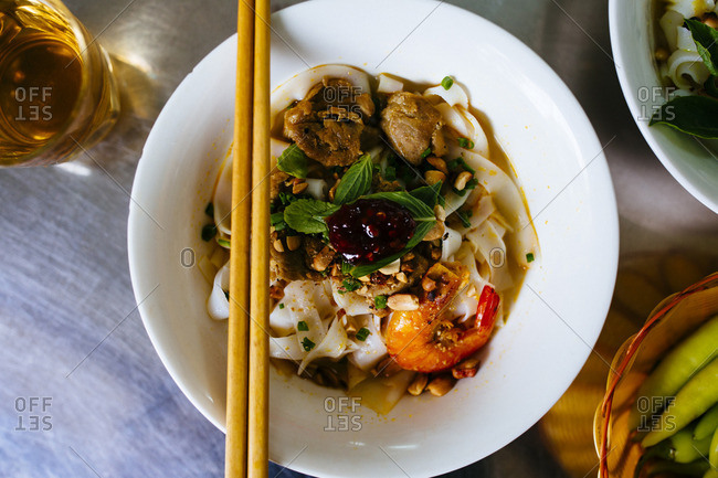 Mi Quang noodles in Vietnam