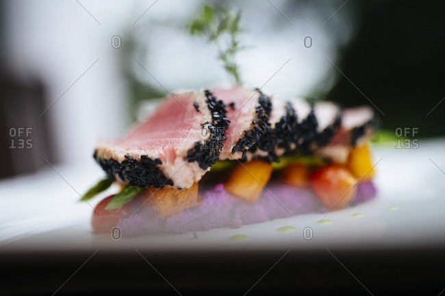 Sesame crusted tuna in Vietnam