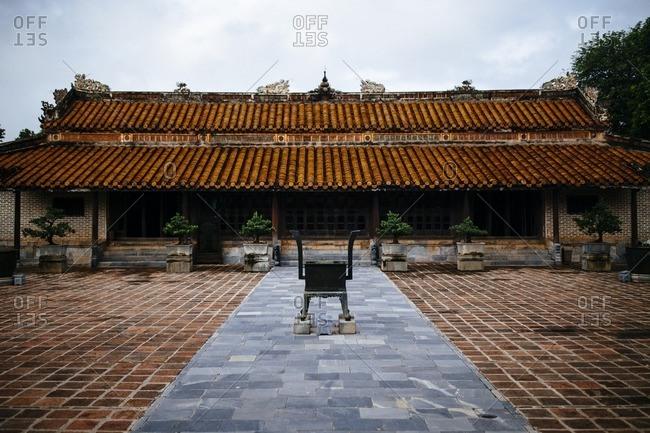 Courtyard, at Tu Duc's tomb, Hue, Vietnam