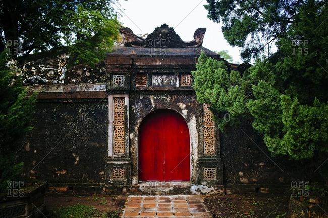 Wall in Tu Duc's tomb, Hue, Vietnam