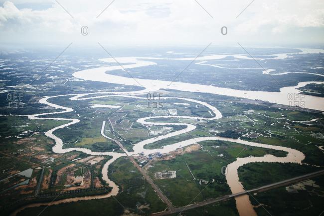 Rivers in Mekong Delta region of Vietnam