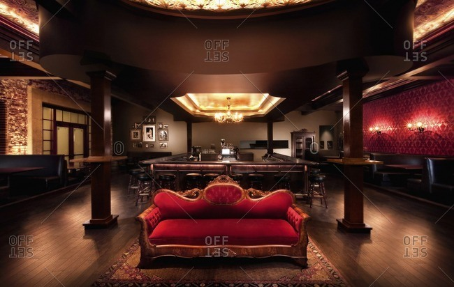 Luxurious sofa in bar