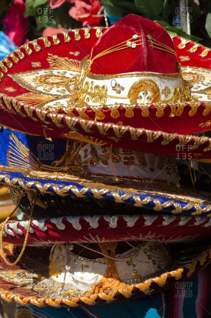 Stack of Mexican sombreros