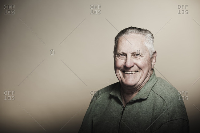 Smiling senior Caucasian man - Offset