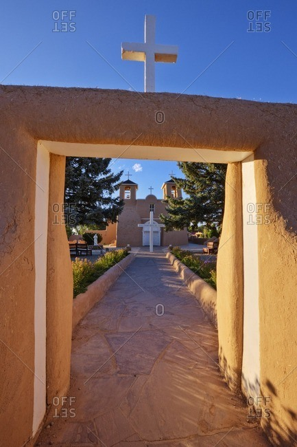 Entrance to church of San Francisco de Asis