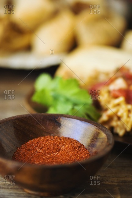 Close up of Mexican spices
