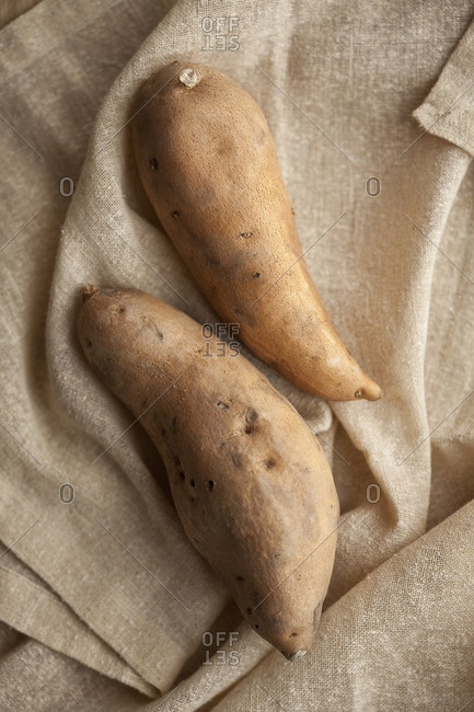 Close up of sweet potatoes