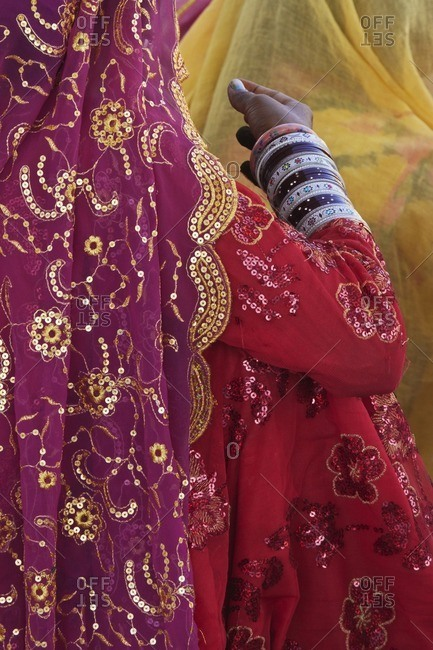 Woman in traditional Indian clothing