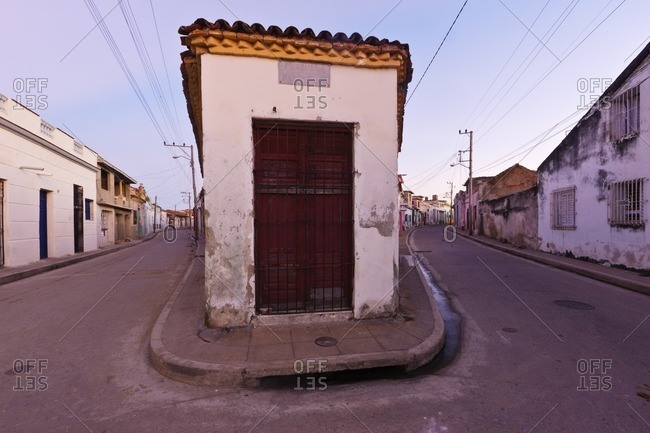 Cuban city streets and houses