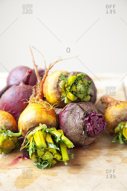 Group of beets and turnips