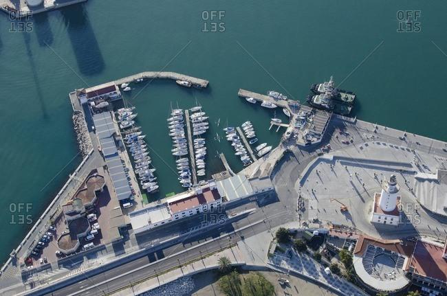 Aerial view of Spanish marina