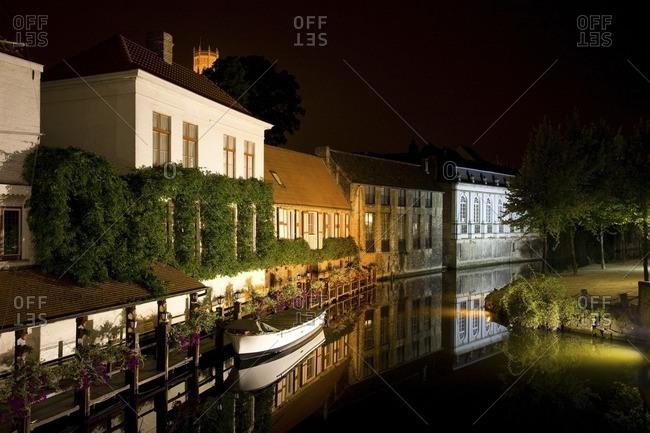 Quaint buildings along canal