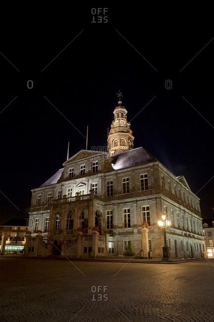 Dutch historical landmark in plaza
