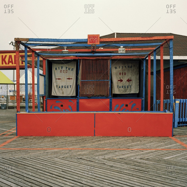 Wildwood, NJ, USA - February 27, 2007: Closed amusement park game
