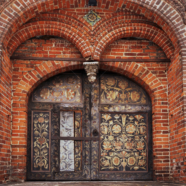 Ornate arches over cathedral doors