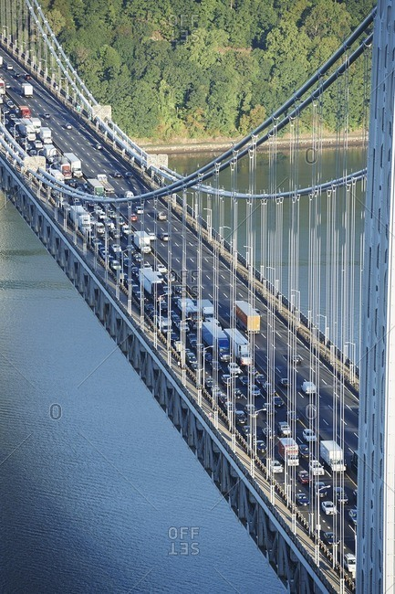 USA- New York City- George Washington Bridge