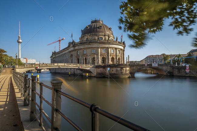 Berlin, Germany - September 27, 2016: Germany- Berlin- Berlin-Mitte- Museumsinsel- Bodemuseum and Berlin TV Tower