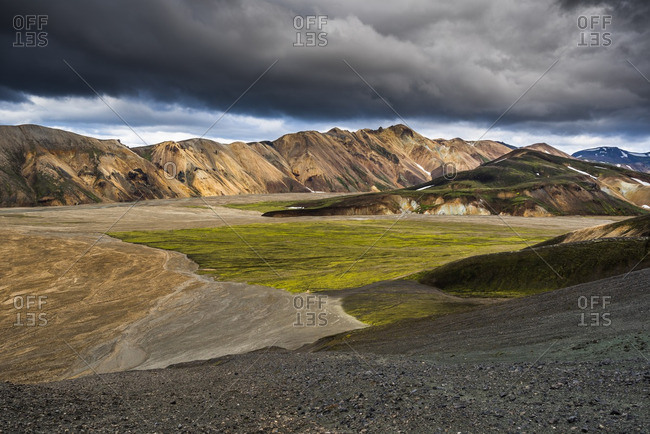 Colorful mountains at  Landmannalaugar in Fjallabak Nature Reserve, Iceland