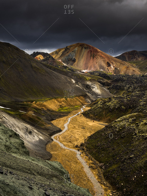 River running through Landmannalaugar, Fjallabak Nature Reserve, Iceland
