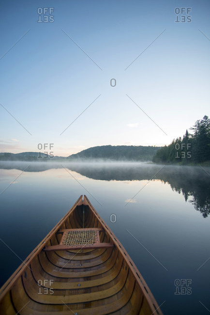 Canoeing on Charleston Pond, West Charleston, Vermont along the Northern Forest Canoe Trail