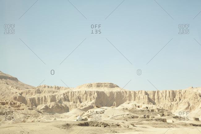 Egypt, Luxor, Desert and canyon