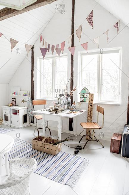 Sweden, Empty girl's room - Offset