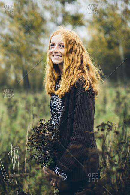 Sweden, Portrait of girl - Offset
