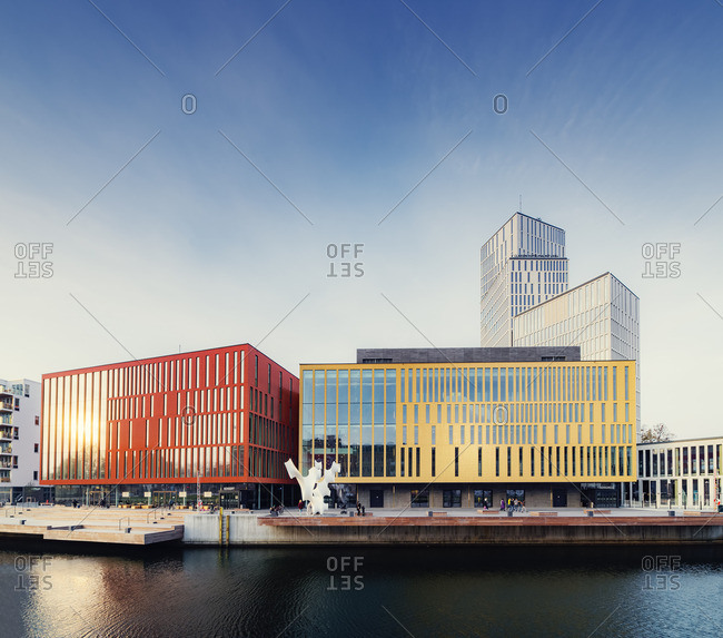 Sweden, Oresund Region - October 31, 2015: Bagers plats, Malmo Live concert hall on sunny day