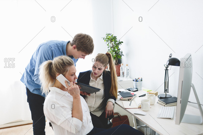 Finland, People working in office