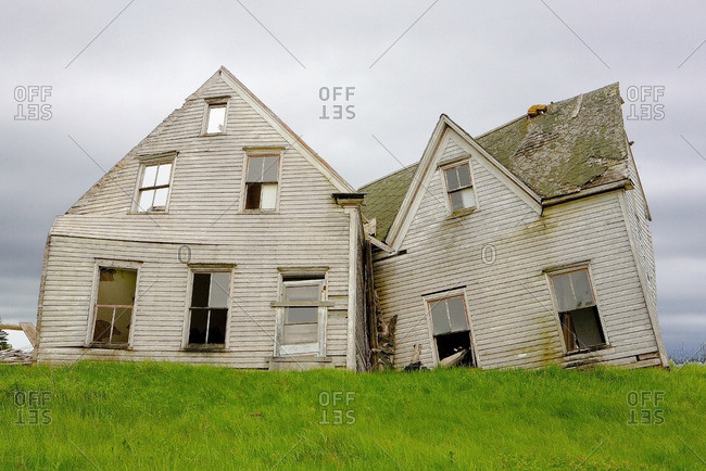 Collapsed and abandoned house, Kings County, Prince Edward Island, Canada