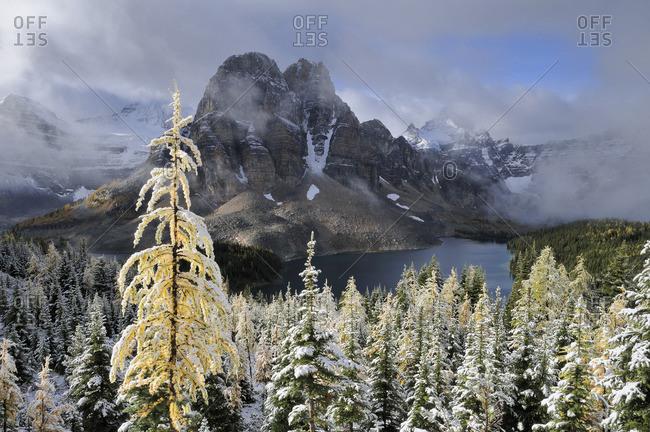 Sunburst Peak, Mount Assiniboine Provincial Park, Rocky Mountains, British Columbia, Canada
