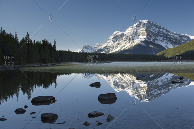 Upper Waterfowl Lake with Mount Patterson, Banff National Park, Alberta