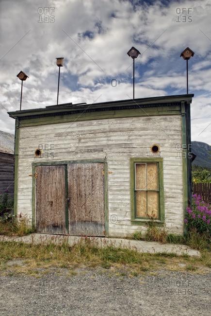 Old abandoned house, Carcross, Yukon Territory, Canada