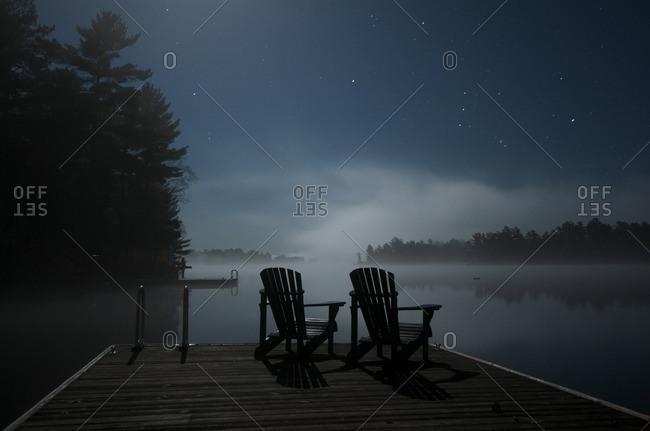 Adirondack Chairs, Kahshe Lake, Muskoka, Ontario
