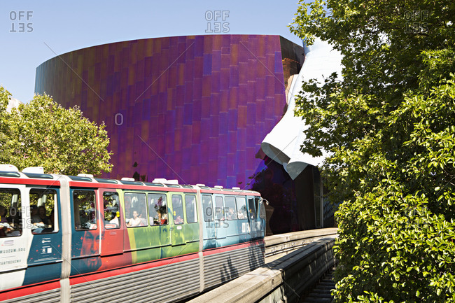 Seattle, Washington - August 14, 2016: Monorail by EMP Museum
