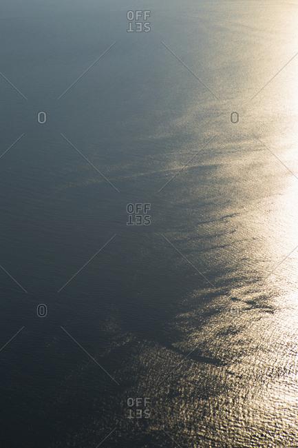 Sunlight shimmering on ocean water