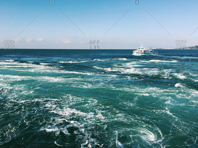 Whirlpool Hinting Cruise in Naruto, Tokushima, Japan